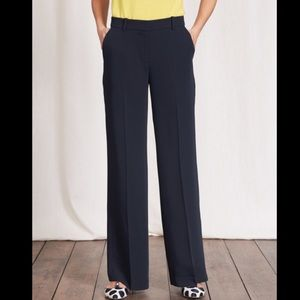 Boden navy Camille wide leg trousers NWT